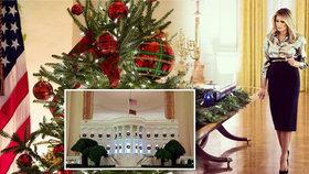 Melania naposledy přetrpí vánoční zdobení Bílého domu.