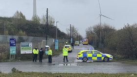 Výbuch v anglickém Bristolu, (3.12.2020).