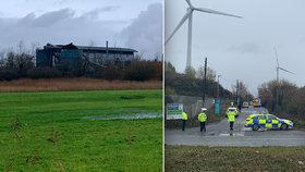 Výbuch ve skladu v anglickém Bristolu, (3.12.2020).