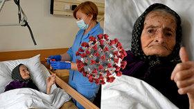 Nejstarší vyléčený pacient s koronavirem: Babička Margareta o nákaze ani nevěděla.