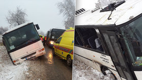 Nehoda autobusu na Jihlavsku.