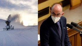 Hory čekají na lyžaře, ministr zdravotnictví Jan Blatný (za ANO) je sem pustí 18. 12.