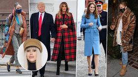 Jak slavným dámám sluší zimní kabátky?