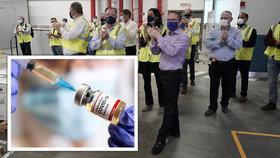Příprava dodávek vakcíny proti koronaviru v USA (13.12.2020)