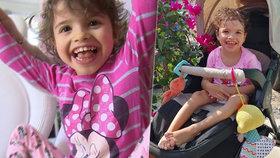 Malou Adrianku (6) po porodu téměř hodinu resuscitovali: Následky si nese dodnes.
