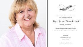 Zakladatelka organizace Mamma HELP zemřela 28. 12. 2020 ve věku 69 let.