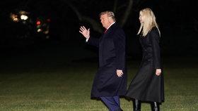 Donadl Trump zamířil s dcerou Ivankou do Georgie (5. 1. 2021)