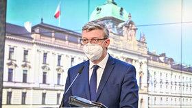Karel Havlíček (za ANO) na tiskovce po jednání vlády