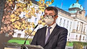 Andrej Babiš na tiskovce po jednání vlády