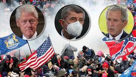 V reakci na nepokoje v Kapitolu přicházejí od světových lídrů a amerických exprezidentů ostrá slova.