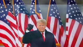 """Prezident USA Donald Trump na mítinku """"Zachraňte Ameriku""""."""