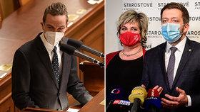Předseda STAN Vít Rakušan podpořil koaliční smlouvu s Piráty. Čekají na verdikt lídra Ivana Bartoše (7.1.2021)