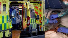 Sanitky v Londýně nabírají zpoždění, nemocnice nestíhají příval nakažených