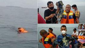 Boeing indonéských aerolinek se zřítil do moře, místní rybáři začali nalézat trosky.