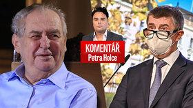 Zeman na Lánech podpořil Babiše v budoucích prezidentských volbách