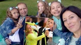 Šťastnou rodinku plnou tanečnic postihla tragická smrt tatínka