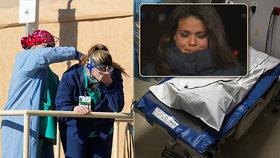 """Reportérka CNN plakala v přímém přenosu kvůli koronaviru. """"Zabíjíme jeden druhého."""""""