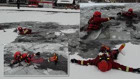 Cvičení hasičů z Varnsdorfu