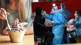v Číně byl nalezen koronavirus ve zmrzlině dovážené z Ukrajiny a Zélandu