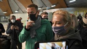Alexeje Navalného zadrželi hned po příletu do Moskvy, převezli jej do vězení v Chimki (17. 1. 2021).