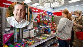 V Česku otevřela papírnictví a rektor UK je ve vážném stavu.