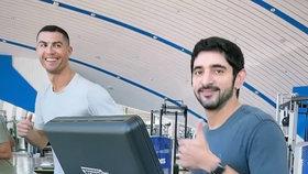 Dubajský korunní princ Hamdan bid Mohammed se přátelí s Christianem Ronaldem.