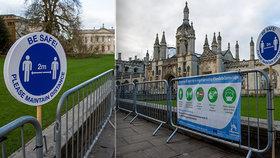 Lockdown na Univerzitě v Cambridge