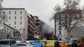 V Madridu došlo k explozi v několikapatrovém domě.