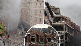 Smrtící výbuch domu v Madridu.