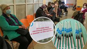 Očkování ve Všeobecné fakultní nemocnici v Praze 20. ledna 2021