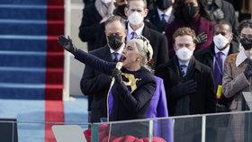 Zpěvačka Lady Gaga na inauguraci Joea Bidena