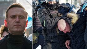 Desítky lidí byly zatčeny v Rusku při demonstracích na podporu opozičního předáka Alexeje Navalného, (23.01.2021).