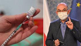Ministr zdravotnictví Jan Blatný (za ANO) prozradil, o kolik dodávky vakcíny Česko přijde.