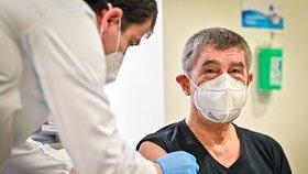 Premiér Andrej Babiš (ANO) dostal druhou dávku vakcíny proti koronaviru (24. 1. 2021).