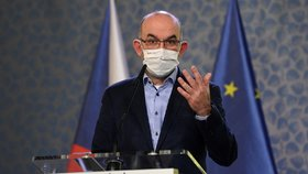 Ministr zdravotnictví Jan Blatný (za ANO) na tiskové konferenci po jednání vlády (25.1.2021)