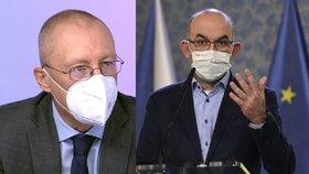 Aleksi Šedo (vlevo) a Jan Blatný (za ANO) už netvoří na ministerstvu zdravotnictví tým