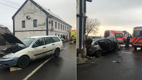 Nehoda ve Šlapanicích.