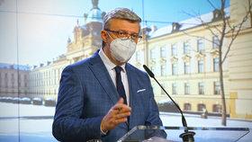 Karel Havlíček  při tiskovce na Úřadu vlády (28.1.2021)