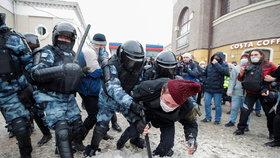 Rusko: Další protesty kvůli věznění Alexeje Navalného (31.1.2021)