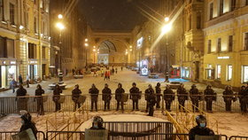 Protesty za propuštění ruského opozičníka Alexeje Navalného v Rusku (2.2.2021)