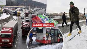 Česko pod sněhovou peřinou: Krásu střídal problém vedle problému!