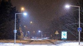 Sníh v Praze, 9. února 2021.