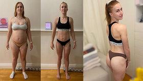 Australanka Katelyn Lankesterová se rozhodla zhubnout, zvládla to o 46 kg za 7 měsíců.