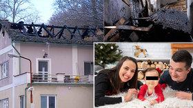 Tříčlenná rodina přišla při tragickém požáru o střechu nad hlavou: Na opravu nemá peníze!