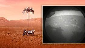 Robotický průzkumník americké vesmírné agentury NASA Perseverance úspěšně zvládl přistání na Marsu