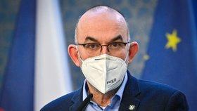 Ministr zdravotnictví Jan Blatný vystoupil v Praze na tiskové konferenci po mimořádném jednání vlády (19. 2. 2021).