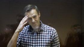 Ruský opozičník Alexej Navalnyj u soudu (20. 2. 2021)