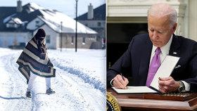 Americký prezident Biden schválil vyhlášení velké katastrofy pro mrazy stižený Texas