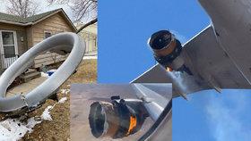 Boeingu po startu z denverského letiště začal hořet motor. Jeho kusy pak dopadly mezi rodinné domy.
