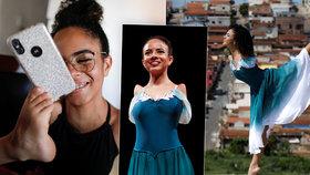 Brazilka Vitoria (16) uchvacuje: baletí nádherně i bez rukou! Sama se nohama i líčí nebo si čistí zuby.